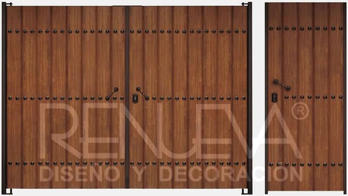 Puertas metalicas precios good puertas decorativas - Cancelas de madera ...