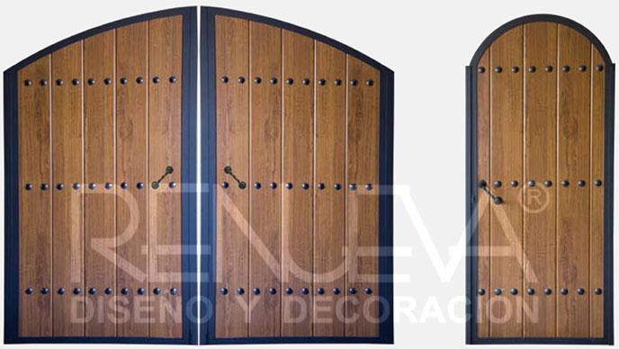 Portones y cancelas metalicas para peatones y veh culos for Puertas de madera para cochera