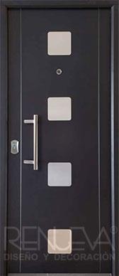 Puertas de exterior metalicas de dise o puertas de - Puertas de entrada metalicas ...