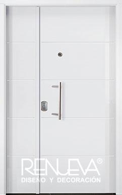 Puertas de entrada metalicas de doble hoja para exteriores - Puertas de aluminio doble hoja ...