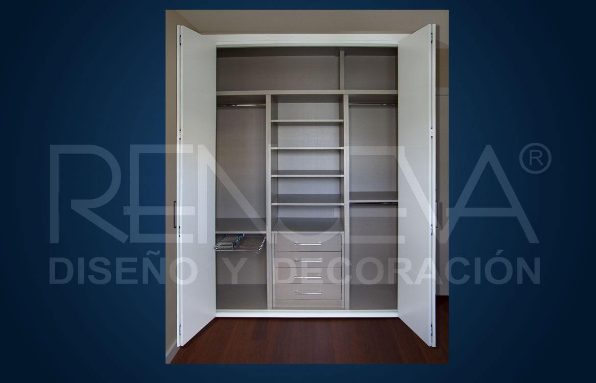 Interior de armario armario con cajonera modelo tirador - Cajonera interior armario ...