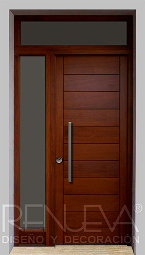 Puertas de entrada de madera maciza puertas exterior for Puertas entrada madera maciza precios