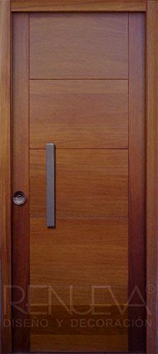 Puertas de entrada madera de iroko macizas y blindadas for Precio puertas macizas