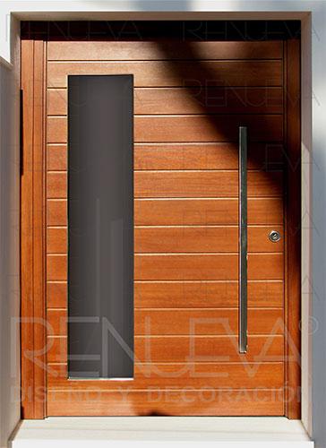 Puertas de entrada de madera maciza puertas exterior - Puertas de entrada metalicas precios ...