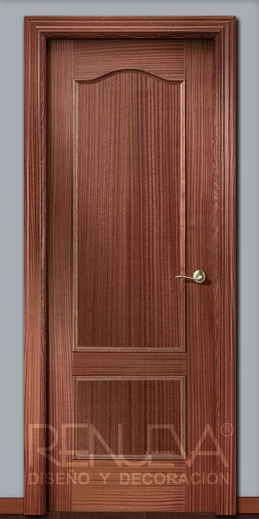 Oferta puerta modelo 32 madera de sapelly barnizada for Decor 1 32
